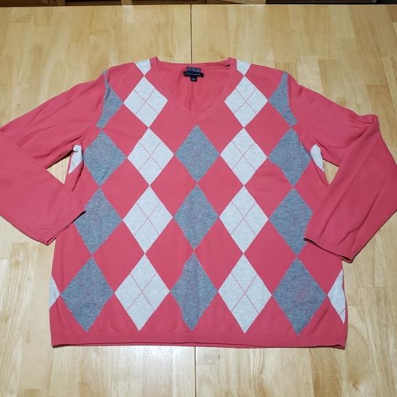 TOMMY HILFIGER Argyle Golf Sweater XXL